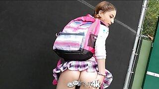 Tiny4K - School girl Kristen Scott fucks hunk Danny Mountain