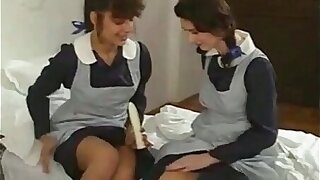 Schoolgirls threesome...Anal