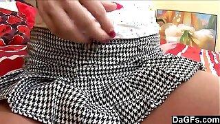 Young guy fucks a teen under her mini skirt
