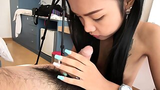 Barebuck fucking a super tiny Asian teen