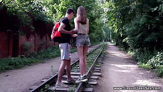 Casual Young Cutie Love Making - Lia - Making love to slender teeny