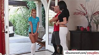 Dominate hot coupled with X teen pornstar Jessie rammed apart from of age strengthen coupled with gets facial